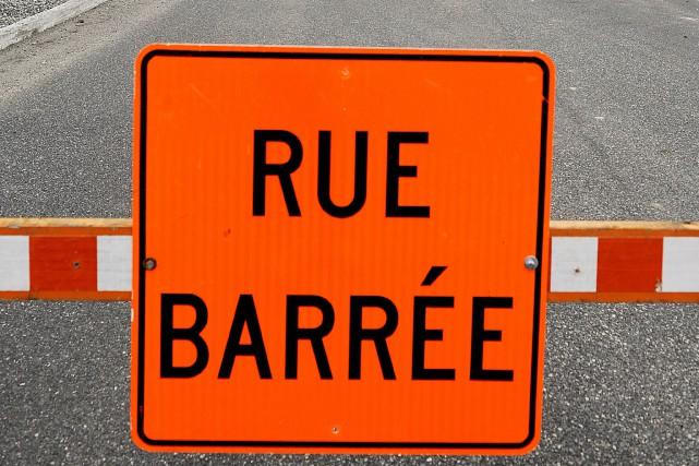 Les travaux de reconstruction de la rue Marquette, au centre-ville de... (Archives La Tribune)