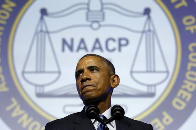 Barack Obama a livré un discours mardi à... (PHOTO REUTERS)