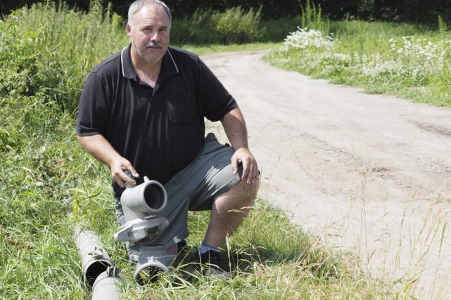 Le producteur maraîcher, Gino Maynard, s'est fait voler... (photo Alain Dion)