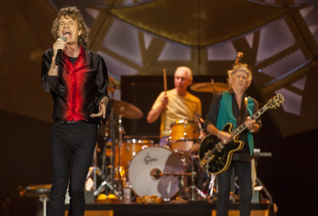 Les Rolling Stones en spectacle à Indianapolis, le... (Associated Press)