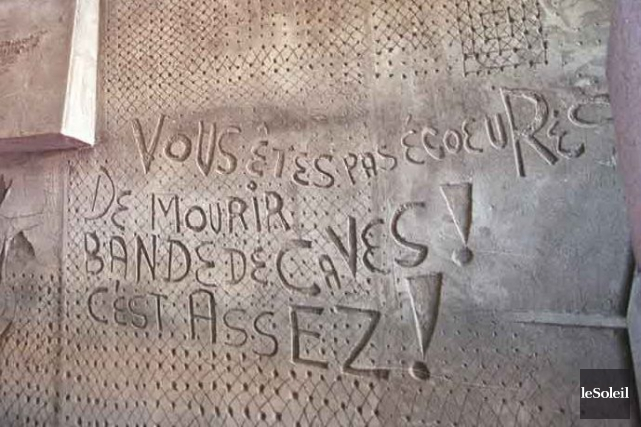Un détail de la murale de Jori Bonet... (Archives Le Soleil)