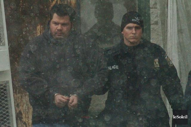 Roch Guimont lors de son arrestation... (Photothèque Le Soleil)