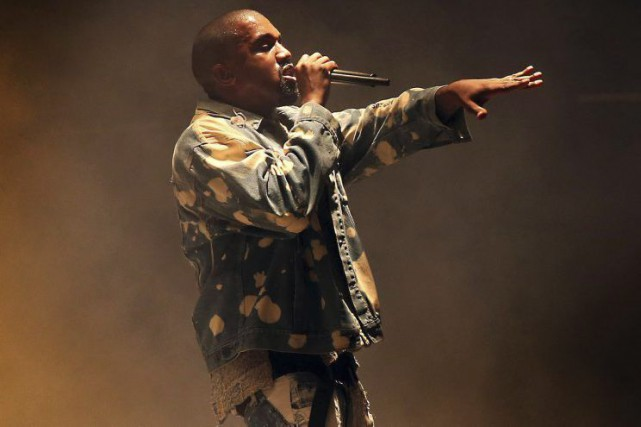 Kanye West à Glastonbury en juin dernier.... (PHOTO ARCHIVES AP)
