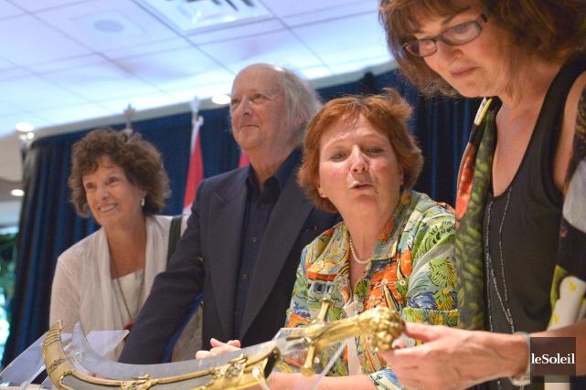 Colette Chatillon, Pierre Chatillon, Yolande Chatillon et Marie-Claire... (Le Soleil, Yan Doublet)