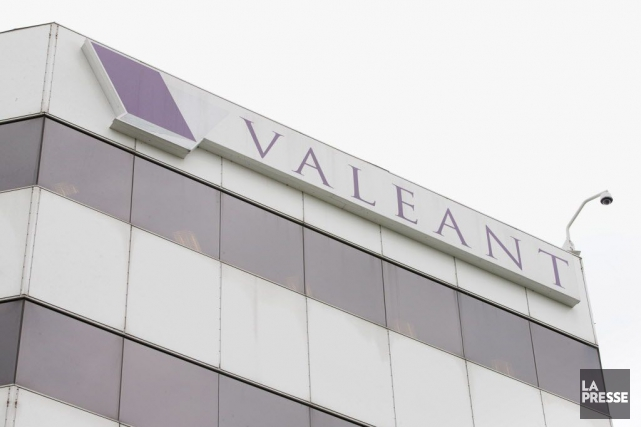 Le titre de Valeant glissait de 10% avant... (Photo Alain Roberge, archives La Presse)