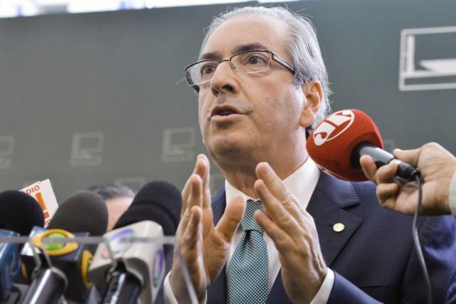 Le président de la chambre des députés brésilienne,... (Archives AFP, Antonio Cruz)