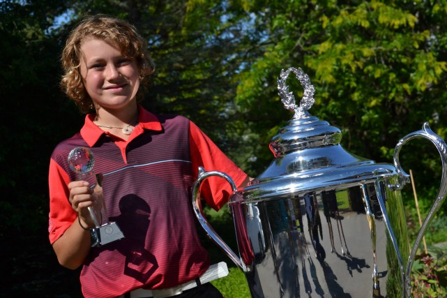 Jean-Philippe Parr participe au championnat Optimist junior international... (PHOTO: GOLF QUÉBEC)