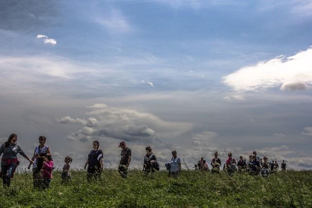Défilant à travers champs, petits et grands sont... (Photo fournie, Fromagerie La Station)