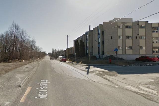 Une traverse pour piétons a récemment été installée... (Photo tirée de Google Maps)