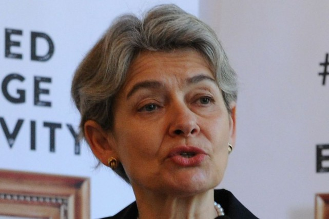 La directrice générale de l'UNESCO, Irina Bokova... (PHOTO ARCHIVES AFP)