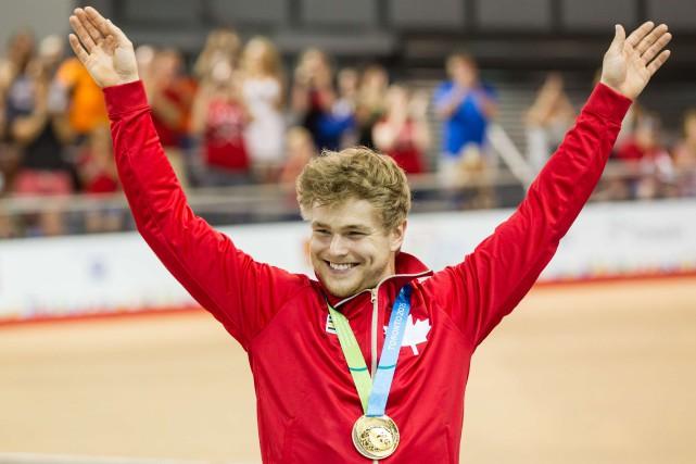Hugo Barrette a été le vainqueur de l'épreuve... (PHOTO GEOFF ROBINS, AFP)