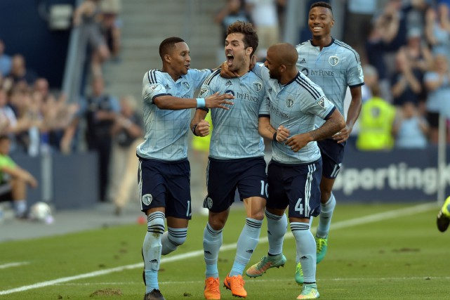 Le milieu de terrain du Sporting, Benny Feilhaber... (PHOTO DENNY MEDLEY, USA TODAY)