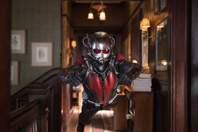 Le mini super-héros de Ant-Man a pris la tête du box-office... (Photo fournie par Media Films)