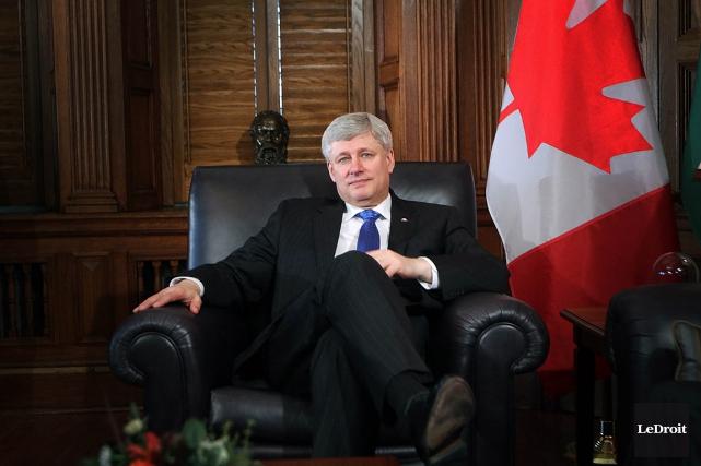 Le premier ministre du Canada, Stephen Harper.... (Photo Etienne Ranger, LeDroit)