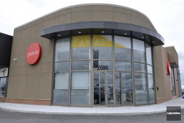 Le centre Globule, situé au coin Talbot et... ((Photo Le Quotidien-Rocket Lavoie))
