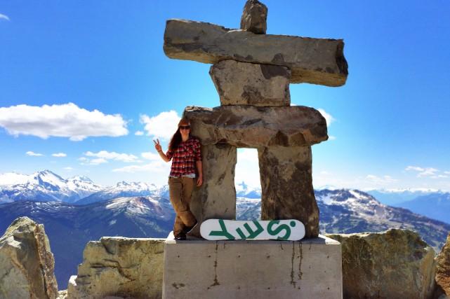 Membre de l'équipe NextGen de Snowboard Canada, Océane... ((Courtoisie))