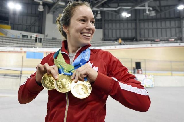 Monique Sullivan est devenue dimanche la première cycliste... (Photo Eric Bolte, USA Today Sports)