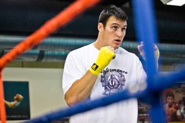 Simon Kean lors d'un entraînement, en 2012.... (Photo Olivier Croteau, archives Gesca)