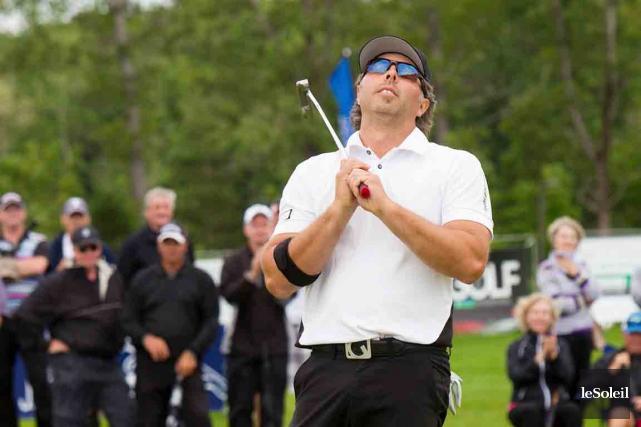 L'Ontarien David Markle, qui menait après trois rondes,... (Le Soleil, Caroline Grégoire)