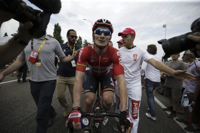 Spécialiste du sprint, Andre Greipel a saisi sa... (Agence France-Presse)