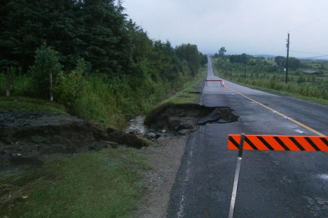 Les fortes pluies de dimanche soir ont causé des dommages dans le secteur de la... (Photo fournie)