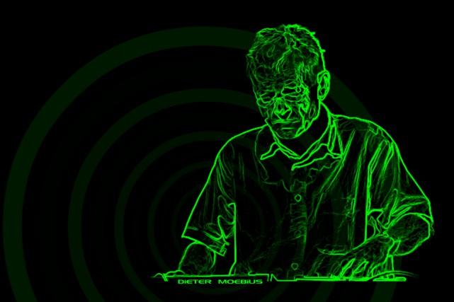 Dieter Moebius, sur une illustration tirée de son... (Illustration tirée du site du musicien)