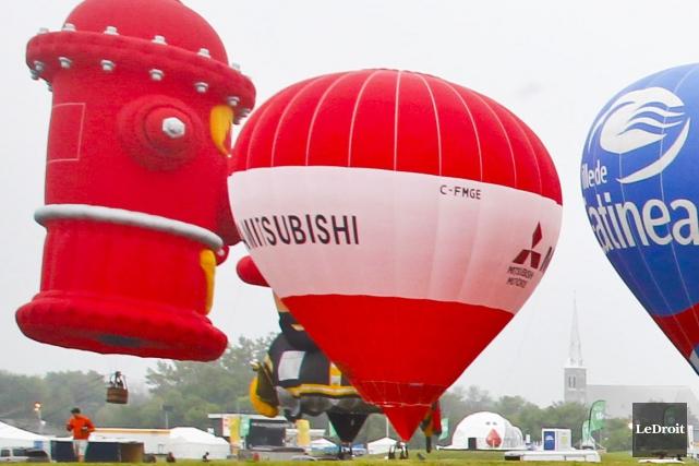 Le Festival des montgolfières est lancé... (Patrick Woodbury, LeDroit)