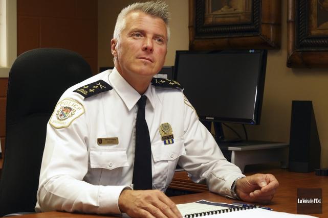 Jean Bourgeois, directeur du Service de police de... (photo archives La Voix de l'Est)