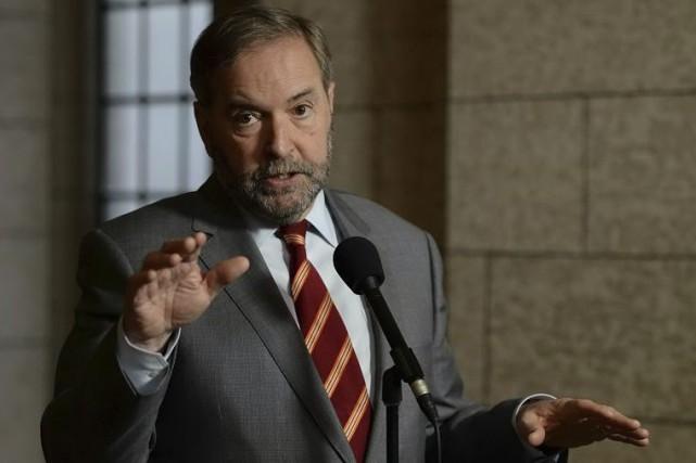 Le chef néo-démocrateThomas Mulcair... (Archives La Presse Canadienne)
