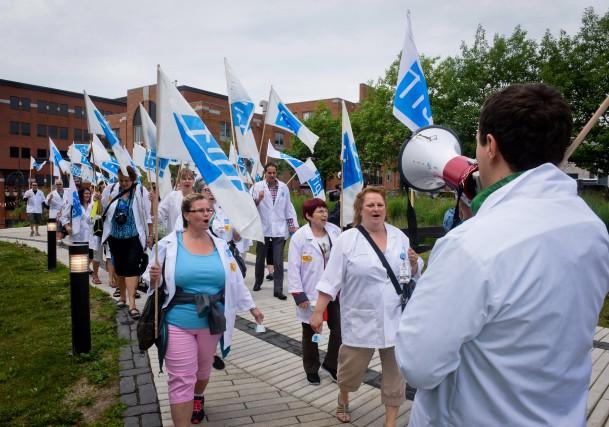 Plus d'une quarantaine de professionnels en soins de... (photo: François Gervais)