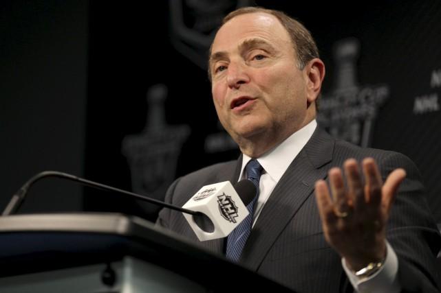 Bettman a répété que les candidatures de Québec... (Archives La Presse Canadienne)