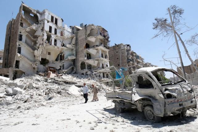 L'on est sans nouvelles des trois journalistes depuis... (PHOTO ZEIN AL-RIFAI, AMC/AFP)