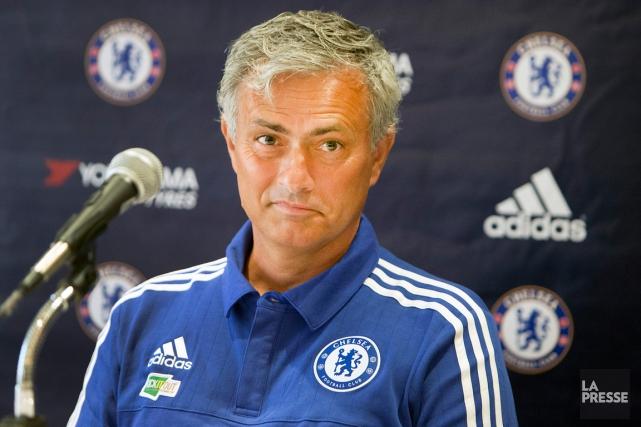 L'entraîneur de Chelsea, José Mourinho, a donnéune conférence... (Photo Robert Skinner, archives La Presse)