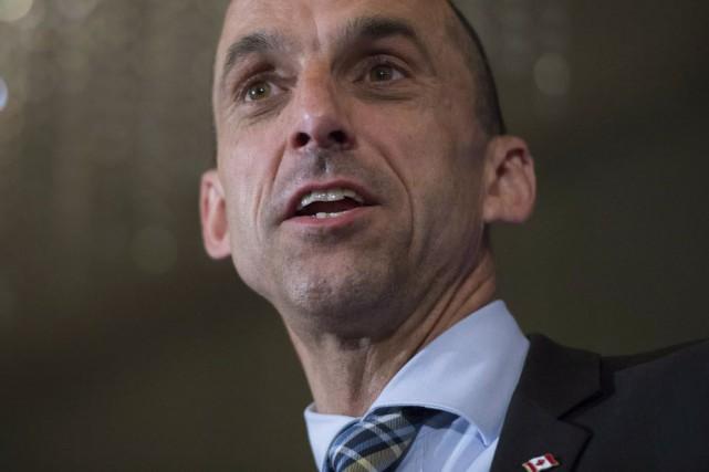 Le ministre fédéral de la Sécurité publique, Steven... (Photo Jonathan Hayward, La Presse canadienne)