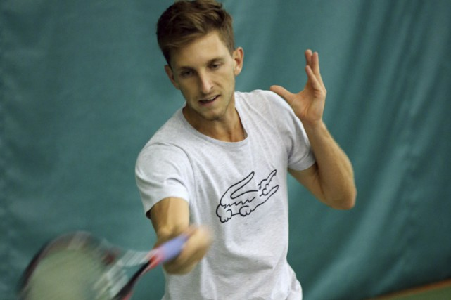 Filip Peliwo à l'entraînement hier. À 21 ans,... (photo Alain Dion)