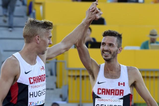 Alex Genest (à droite) a bien failli rater... (La Presse Canadienne)