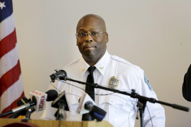 Le commandant Andre Anderson, 50 ans, a été... (PHOTO JEFF ROBERSON, AP)