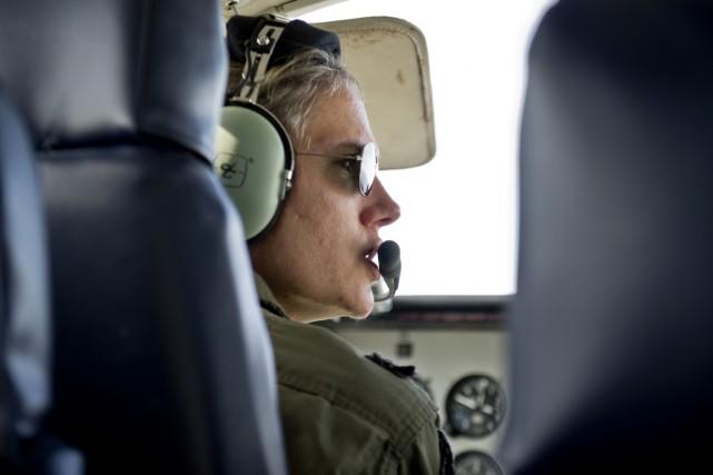 Devenue dès 2002 la première femme pilote de... (PHOTO PABLO PORCIUNCULA, AFP)