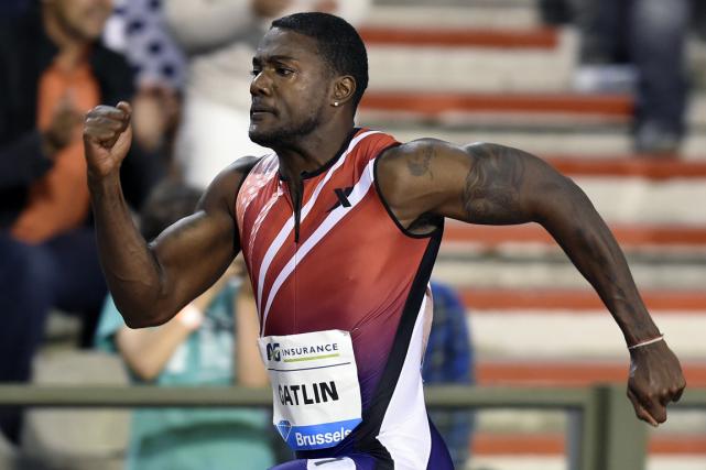 Le sprinteur américain Justin Gatlina été suspendu de... (Photo John Thys, AFP)