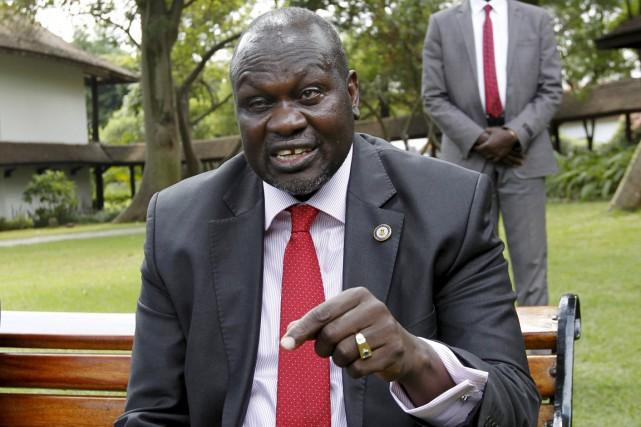 Le chef des rebelles Riek Machar (ci-dessus), ex-vice-président... (PHOTO THOMAS MUKOYA, ARCHIVES REUTERS)