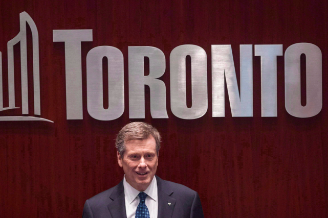 Le maire de Toronto, John Tory.... (Photo Chris Young, PC)