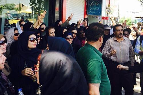 La manifestation a été dispersée par des forces... (Photo tirée de Twitter)