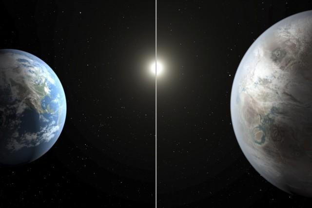 Cette illustration fournie par la NASA compare la... (AFP)