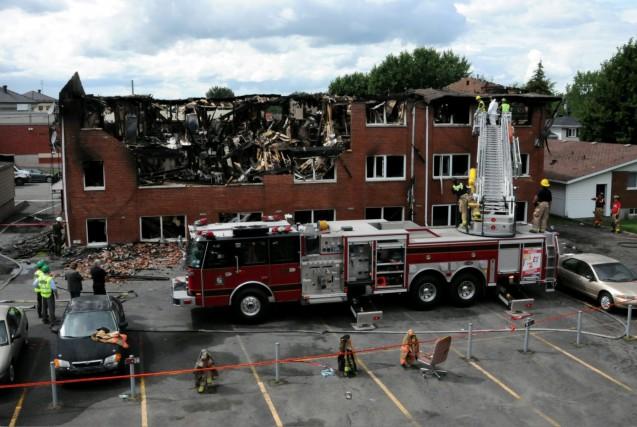 L'incendie s'est propagé extrêmement rapidement à l'intérieur du... (Photo collaboration spéciale Éric Beaupré)