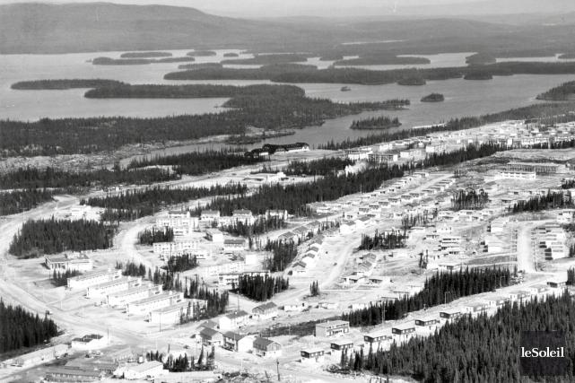 Le village de Gagnon le 5 août 1961.... (Archives Le Soleil)