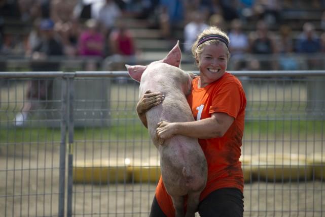 À l'approche du Festival du cochon de Sainte-Perpétue, comment ne pas souligner... (photo: Stéphane Lessard)