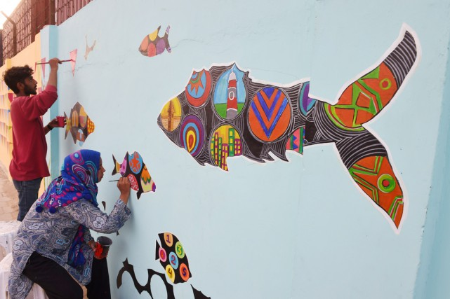 De jeunes artistes locaux sont bien décidés à... (PHOTO ASIF HASSAN, AFP)