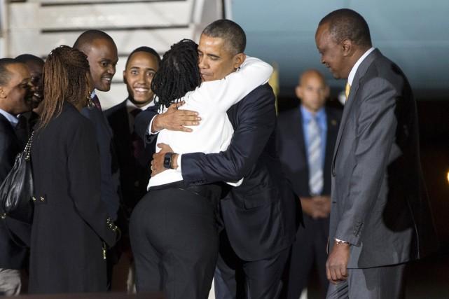 Barack Obama, qui a quitté les États-Unis à... (PHOTO EVAN VUCCI, AP)