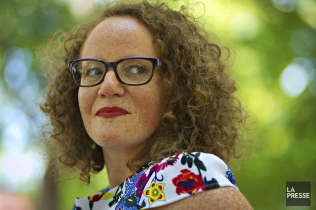 Mélissa Verreault, auteure de L'angoisse du poisson rouge.... (PHOTO OLIVIER JEAN, LA PRESSE)