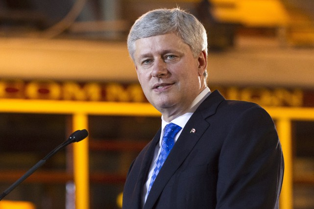 Le premier ministre canadien, Stephen Harper... (PHOTO ARCHIVES LA PRESSE CANADIENNE)